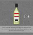 green liquor alcoholic beverage card vector image