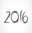 2016 flower vector image