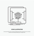 3d dimensional holographic scan scanner icon line vector image vector image