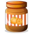 A bottle of orange jam vector image vector image