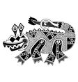 black and white authentic original decorative vector image