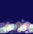 blue night bokeh abstract background vector image