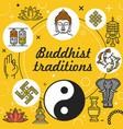 buddhism religion buddha buddhist zen lotus om vector image vector image