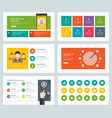 business presentation templates flat design vector image