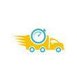 car delivery logo vector image vector image