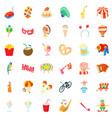 carousel icons set cartoon style vector image vector image