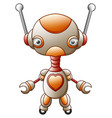 cartoon character cute robot isolated on white bac vector image vector image