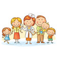 cartoon family doctor vector image