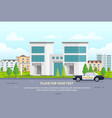 city police station with place for text - modern vector image vector image