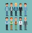 color background full body set of multiple men vector image vector image