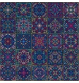Colorful Square Tiles Seamless pattern vector image