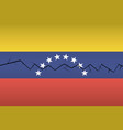 crack on the flag of venezuela split into two vector image