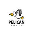 cute pelican cartoon logo icon vector image