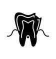 dental caries icon black vector image vector image