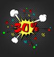 Discount 30 percent pop art retro style
