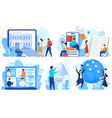 distance education and online learning concept vector image vector image