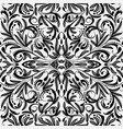 elegance black and white paisley seamless pattern vector image vector image