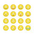 emoticon smile icons set 3 vector image