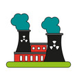 factory cartoon flat vector image