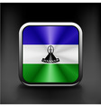 Flag of Lesotho as round glossy icon vector image vector image