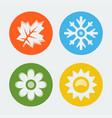 four seasons icons set vector image