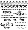freehand drawings various decorative borders vector image vector image
