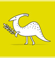 funny dinosaur childish style sketch for your vector image