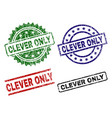 grunge textured clever only seal stamps vector image vector image