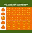 halloween pumpkin simple flat icons set vector image vector image