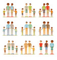 happy male gay couple with foster children vector image