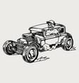 hot rod retro car concept vector image vector image