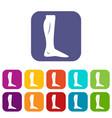 human leg icons set vector image vector image