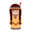 indian girl redskin vector image