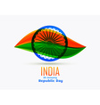 indian republic day design celebrated on 26 vector image