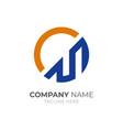 letter c m logo vector image vector image