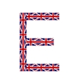 Letter E made from United Kingdom flags vector image vector image