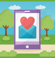 mobile love related vector image vector image