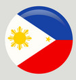 original and simple republic of the philippines vector image
