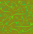 pattern from vegetable green and mint stems and vector image