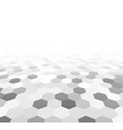 Perspective grid hexagonal surface vector image
