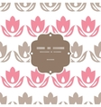Pink and brown tulips stripes frame seamless vector image