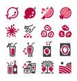 Pomegranate icon set