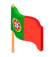 portugal flag icon isometric style vector image