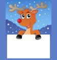 reindeer theme image 2 vector image vector image