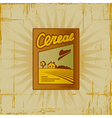 Retro Cereal Box vector image vector image