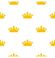 royal crown pattern flat vector image vector image