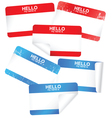 set blank adhesive name badges vector image vector image