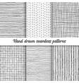set hand drawn checkered seamless vector image vector image