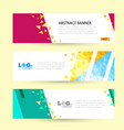 set horizontal summer web banner templates bright vector image vector image