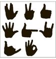 set of hand gesture vector image vector image